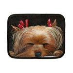 Sleeping Yorkie Painting Scan 300dpi Retouched Copy Netbook Case (Small)