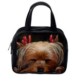 Sleeping Yorkie Painting Scan 300dpi Retouched Copy Classic Handbag (One Side)