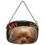 Sleeping Yorkie Painting Scan 300dpi Retouched Copy Chain Purse (One Side)
