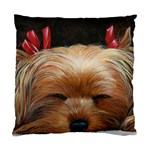 Sleeping Yorkie Painting Scan 300dpi Retouched Copy Cushion Case (One Side)