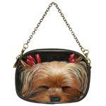 Sleeping Yorkie Painting Scan 300dpi Retouched Copy Chain Purse (Two Sides)
