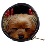 Sleeping Yorkie Painting Scan 300dpi Retouched Copy Mini Makeup Bag