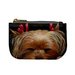 Sleeping Yorkie Painting Scan 300dpi Retouched Copy Mini Coin Purse