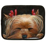 Sleeping Yorkie Painting Scan 300dpi Retouched Copy Netbook Case (XXL)