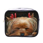 Sleeping Yorkie Painting Scan 300dpi Retouched Copy Mini Toiletries Bag (One Side)
