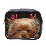 Sleeping Yorkie Painting Scan 300dpi Retouched Copy Mini Toiletries Bag (Two Sides)