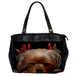 Sleeping Yorkie Painting Scan 300dpi Retouched Copy Oversize Office Handbag (One Side)