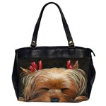 Sleeping Yorkie Painting Scan 300dpi Retouched Copy Oversize Office Handbag (Two Sides)