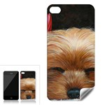 Sleeping Yorkie Painting Scan 300dpi Retouched Copy Apple iPhone 4 Skin