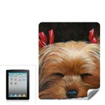 Sleeping Yorkie Painting Scan 300dpi Retouched Copy Apple iPad Skin