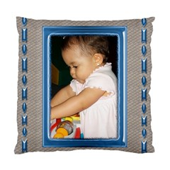 Blue And Silver Cushion Case By Deborah   Standard Cushion Case (two Sides)   Sn2dqb5od42f   Www Artscow Com Back
