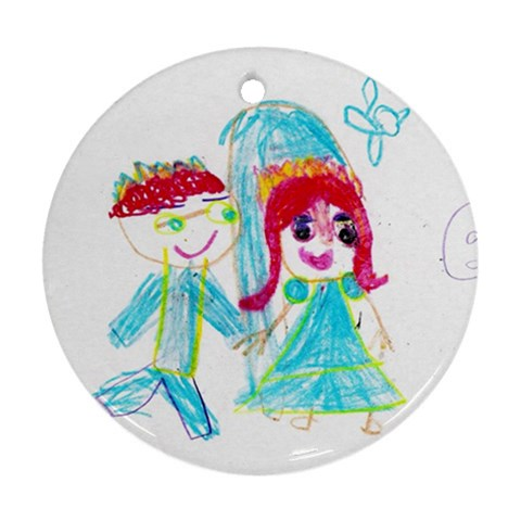 Rebekah Wedding Ornament By Julie Hanes   Ornament (round)   Fakgz5i3mc1n   Www Artscow Com Front