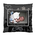 Cutie Patootie 2-Sided Cushion Case - Standard Cushion Case (Two Sides)