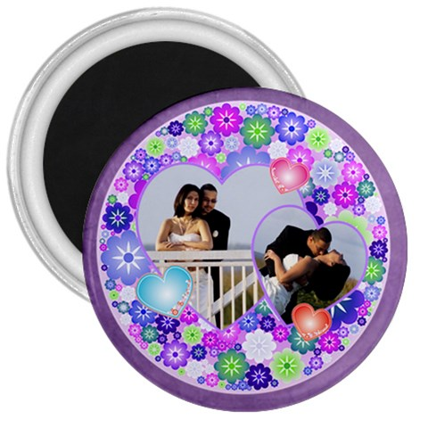 Romantic Hearts Magnet 3 By Ivelyn   3  Magnet   W0er32a376un   Www Artscow Com Front