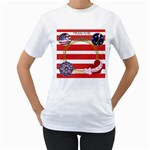 Proud to Be An American - Women s T-Shirt (White) (Two Sided)