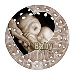 Baby Mine Single Sided Filigree Ornament - Ornament (Round Filigree)