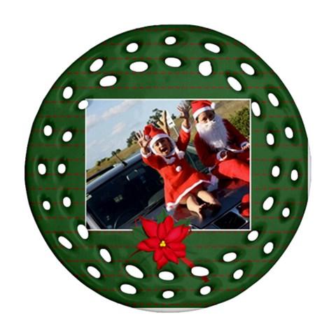 Round Filigree Ornament 8 By Jennyl   Ornament (round Filigree)   W57iq32npnwq   Www Artscow Com Front
