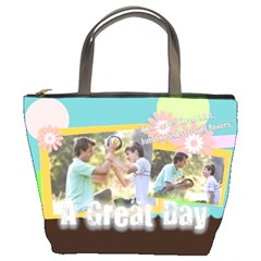 A Great Day By Joely   Bucket Bag   4g4qxr6i6jao   Www Artscow Com Front