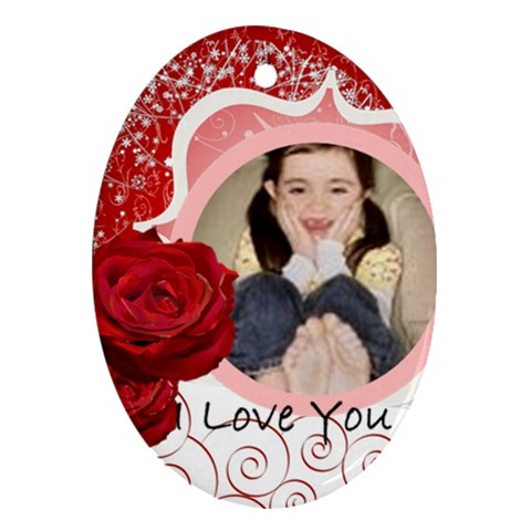 I Love You By Wood Johnson   Ornament (oval)   E9xfu29rjyfs   Www Artscow Com Front
