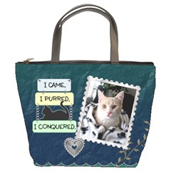 My Feline Friend Bucket Bag By Lil    Bucket Bag   Skystyeeykwf   Www Artscow Com Front
