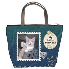 My Feline Friend Bucket Bag By Lil    Bucket Bag   Skystyeeykwf   Www Artscow Com Back