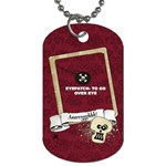 PIRATE- Dog Tag (2 sides) with eyepatch - Dog Tag (Two Sides)