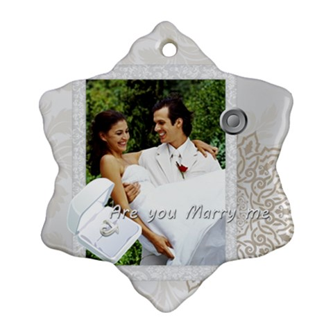 Wedding By Joely   Ornament (snowflake)   Qhno4qei4h0e   Www Artscow Com Front