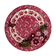 Pink Flowers Round Ornament (2 Sides) By Mikki   Round Ornament (two Sides)   0bpg0xw6w2n8   Www Artscow Com Front