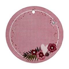 Pink Flowers Round Ornament (2 Sides) By Mikki   Round Ornament (two Sides)   0bpg0xw6w2n8   Www Artscow Com Back