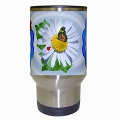 Daisy  And Roses Travel Mug By Kim Blair   Travel Mug (white)   Mbzzb2l08n79   Www Artscow Com Center