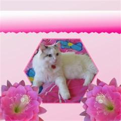 Pink Delight Flower Storage Box Stool By Deborah   Storage Stool 12    0j1m8ta0s39v   Www Artscow Com Left