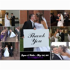 Wedding Thanks You By Amber   5  X 7  Photo Cards   Ypetgouwnvzj   Www Artscow Com 7 x5 Photo Card - 3