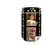 Black and Gold BlackBerry Torch 9800 Skin