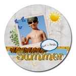 summer - Round Mousepad