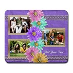 Purple Daisies Photo Mousepad - Large Mousepad