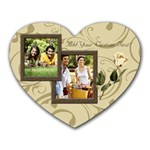 Cream Swirl Photo Mousepad - Heart Mousepad