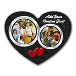 Black Sand Photo Mousepad - Heart Mousepad