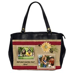 Cream Daisy Photo Collage Bag By Angela   Oversize Office Handbag (2 Sides)   Scwfpfsy1ybb   Www Artscow Com Front