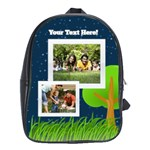 Outdoor Tree Photo Bookbag - School Bag (Large)