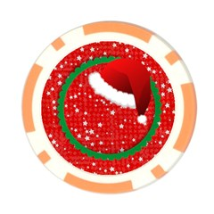 Santa Hat/ Christmas  Poker Chip By Mikki   Poker Chip Card Guard   Gg5yl8c6t20w   Www Artscow Com Front