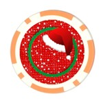 Santa Hat/ Christmas- poker chip - Poker Chip Card Guard