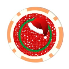 Santa Hat/ Christmas  Poker Chip By Mikki   Poker Chip Card Guard   Gg5yl8c6t20w   Www Artscow Com Back