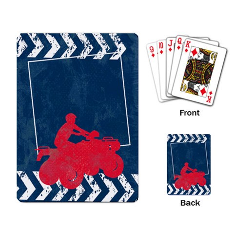 Atv/extreme Sports  Playing Cards By Mikki   Playing Cards Single Design   Ayunthyy3xui   Www Artscow Com Back