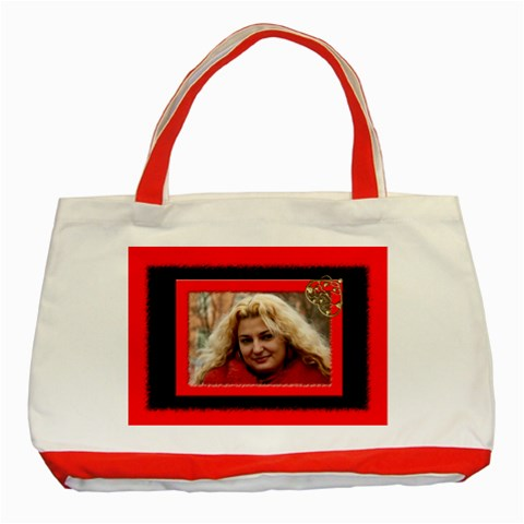 Red And Black Tote Bag By Deborah   Classic Tote Bag (red)   Zkpbev9f8xc2   Www Artscow Com Front
