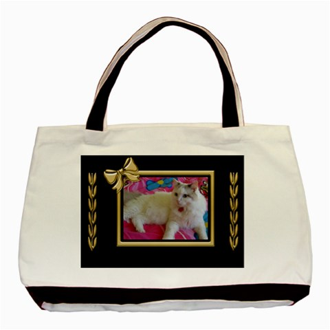 Black And Gold Tote Bag By Deborah   Basic Tote Bag   Rpi0nghnwfww   Www Artscow Com Front