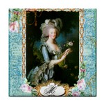 Marie Antoinette Pink Roses And Blue 6 By 8 Copy Tile Coaster