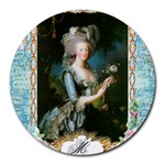 Marie Antoinette Pink Roses And Blue 6 By 8 Copy Round Mousepad