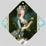 Marie Antoinette Pink Roses And Blue 6 By 8 Copy Car Window Sign