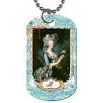 Marie Antoinette Pink Roses And Blue 6 By 8 Copy Dog Tag (One Side)