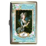 Marie Antoinette Pink Roses And Blue 6 By 8 Copy Cigarette Money Case